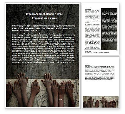 Poor Children Word Template, 06198, Religious/Spiritual — PoweredTemplate.com