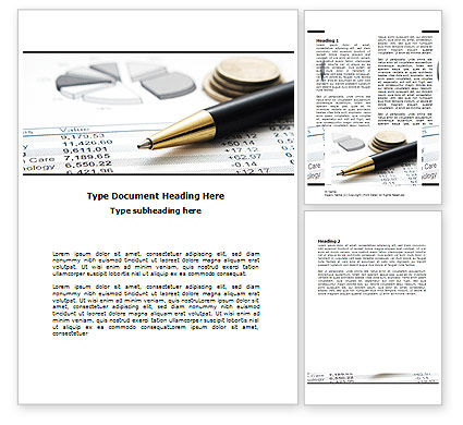 Budgeting Word Template, 06201, Financial/Accounting — PoweredTemplate.com