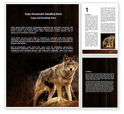 Coyote Word Template, 06203, Agriculture and Animals — PoweredTemplate.com