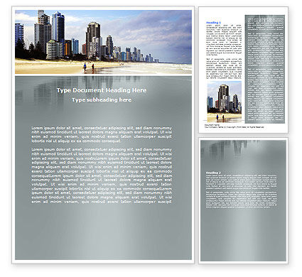 Construction: City Beach Word Template #06204