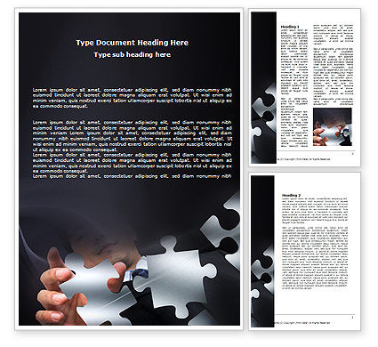 Solving Puzzle Word Template, 06207, Consulting — PoweredTemplate.com