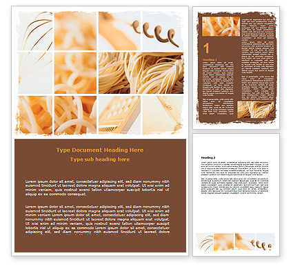 Pasta Word Template, 06213, Food & Beverage — PoweredTemplate.com