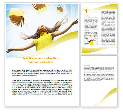 Education & Training: Girl With Books Word Template #06220