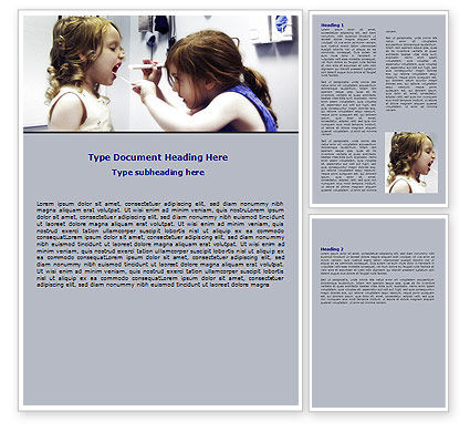 Medical: 워드 템플릿 - 어린 이용 치과 건강 #06232