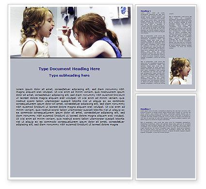 Medical: 儿童牙齿健康Word模板 #06232