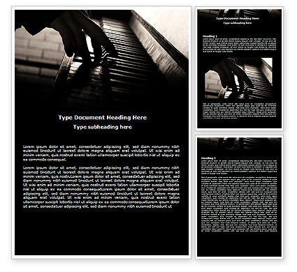 Art & Entertainment: Pianist Word Template #06235