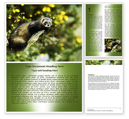 Free Polecat Word Template, 06239, Agriculture and Animals — PoweredTemplate.com