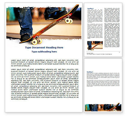 Skateboarder Word Template, 06241, Sports — PoweredTemplate.com