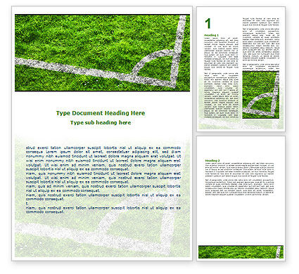 Soccer Playground Word Template, 06242, Sports — PoweredTemplate.com