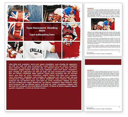 Sports: Free Football Fans Word Template #06249