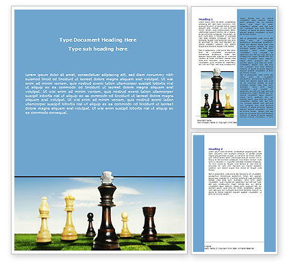Chess King Word Template, 06250, Business Concepts — PoweredTemplate.com