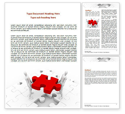 Handling Word Template, 06255, Consulting — PoweredTemplate.com