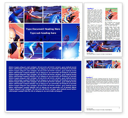 Sports: Athlete Word Template #06260