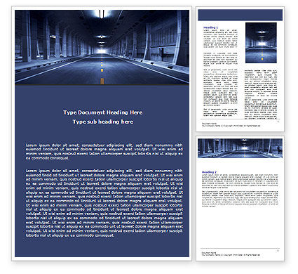 Underground Tunnel Word Template, 06267, Construction — PoweredTemplate.com