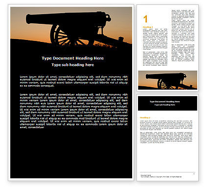 Alamo Sunset Word Template, 06269, Military — PoweredTemplate.com