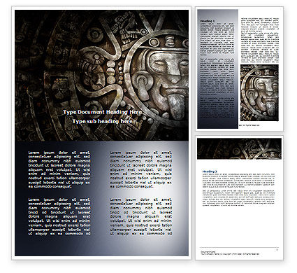 Pre-Columbian Art Word Template, 06272, Art & Entertainment — PoweredTemplate.com
