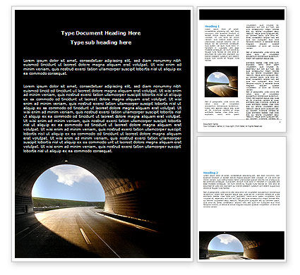 Construction: Automobile Tunnel Word Template #06275