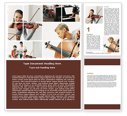 Careers/Industry: Musical School Word Template #06279