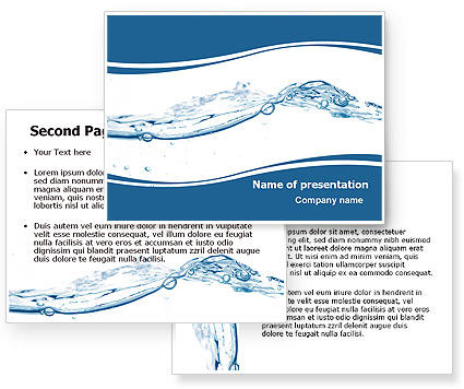 powerpoint backgrounds water. Water Splash PowerPoint