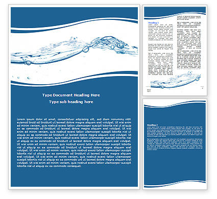 Water Splash Word Template, 06280, Nature & Environment — PoweredTemplate.com