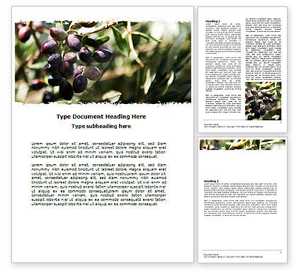 Olive Word Template, 06286, Agriculture and Animals — PoweredTemplate.com