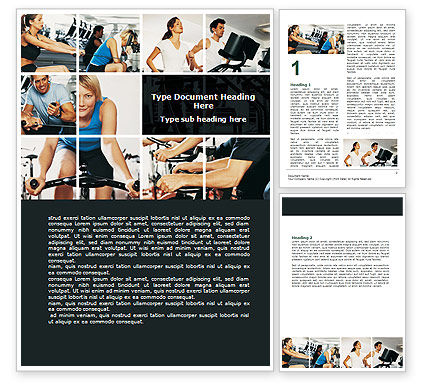 Sports: Sport Gym Word Template #06294