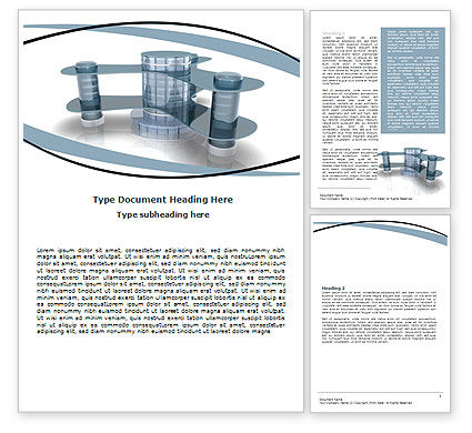 Innovative Architecture Word Template, 06297, Construction — PoweredTemplate.com