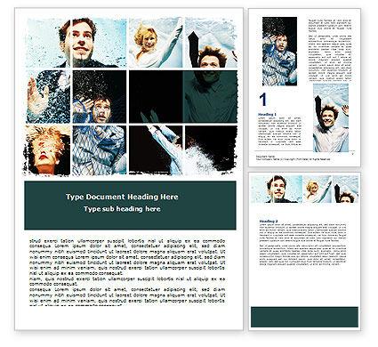 Businessmen Underwater Word Template, 06298, Consulting — PoweredTemplate.com