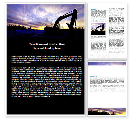 Power Shovel Word Template, 06299, Utilities/Industrial — PoweredTemplate.com