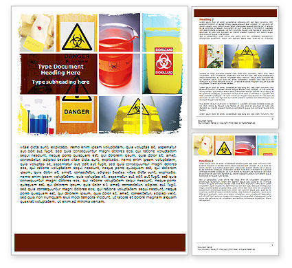 Health Risk Word Template, 06301, Technology, Science & Computers — PoweredTemplate.com