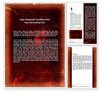 Abstract/Textures: Red Grunge Word Template #06302