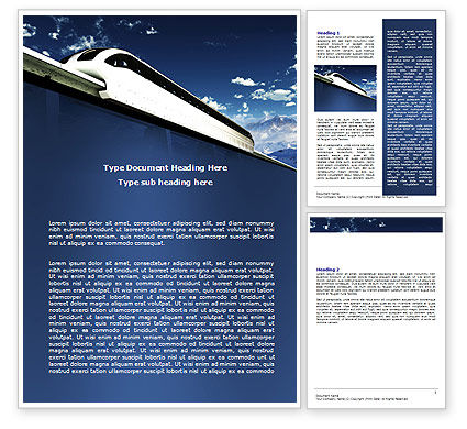 Monorail Word Template, 06309, Cars/Transportation — PoweredTemplate.com