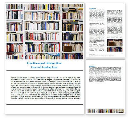 Book Shelves Word Template, 06313, Education & Training — PoweredTemplate.com