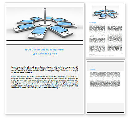 Telecommunication: Wi-Fi Point Word Template #06317