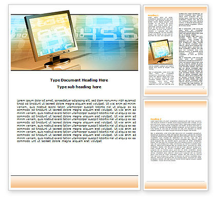 Computer Media Word Template, 06320, Technology, Science & Computers — PoweredTemplate.com