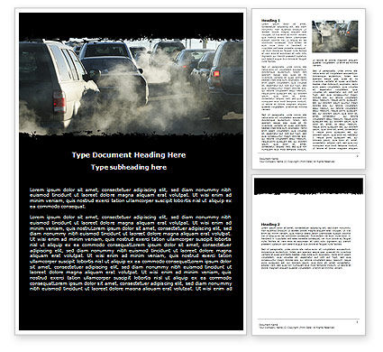 Exhaust Fumes Word Template, 06321, Cars/Transportation — PoweredTemplate.com