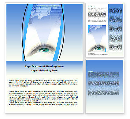 Digital Eye Word Template, 06323, Business Concepts — PoweredTemplate.com