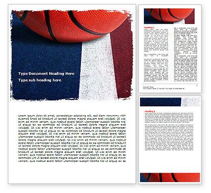 Basketball Ball Word Template, 06326, Sports — PoweredTemplate.com