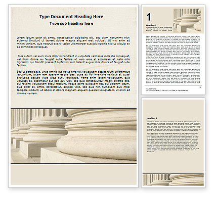 Doric Columns Word Template, 06332, Construction — PoweredTemplate.com