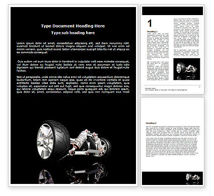 Construction: Front Suspension Design Word Template #06336