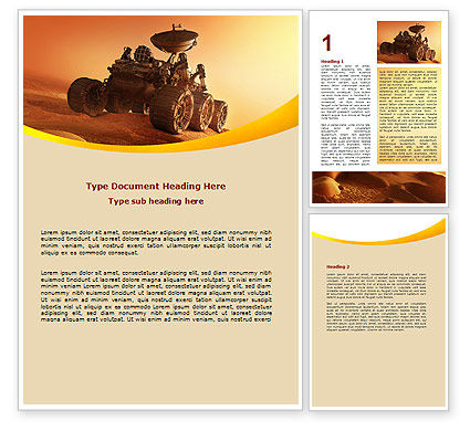 Mars Rover Word Template, 06342, Technology, Science & Computers — PoweredTemplate.com