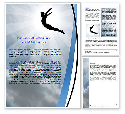 Freedom Jump Word Template, 06347, Business Concepts — PoweredTemplate.com