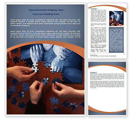 Business Concepts: Team Building Puzzle Word Template #06348