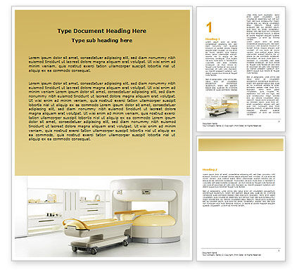 Tomograph Word Template, 06350, Medical — PoweredTemplate.com