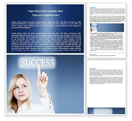 Reaching for Success Word Template, 06351, Business Concepts — PoweredTemplate.com