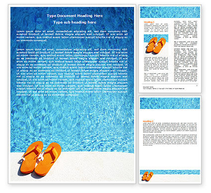 Slippers On A Pool Skirting Word Template, 06352, Careers/Industry — PoweredTemplate.com