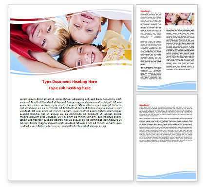 Education & Training: Kids Smiling Faces Word Template #06353