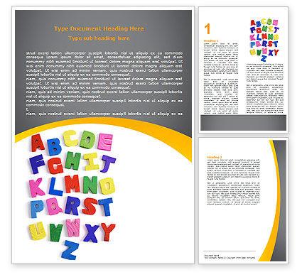 Childish Alphabet Word Template, 06356, Education & Training — PoweredTemplate.com