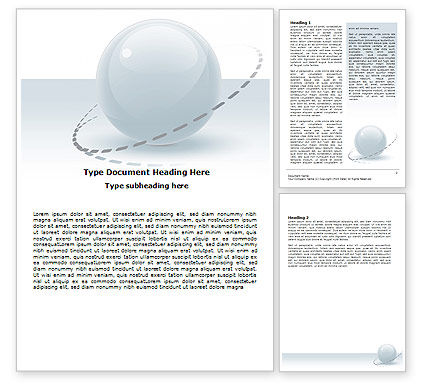 Abstract/Textures: Clean Sphere Word Template #06360
