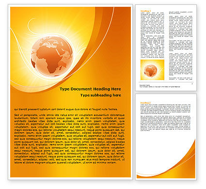 Global: Yellow Aardethema Word Template #06361